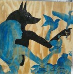 Maia and Anubis in the garden2